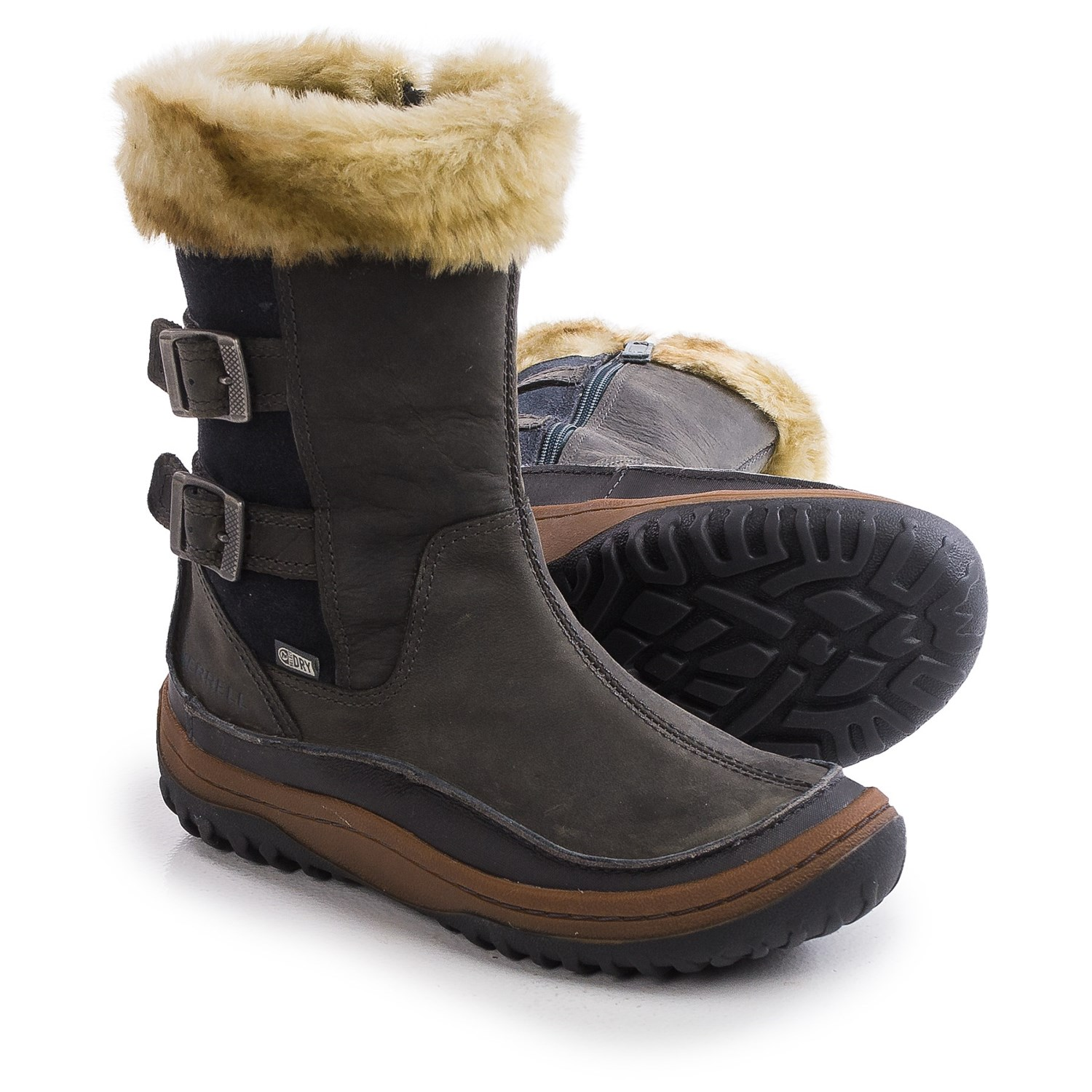 merrell winter boots waterproof insulated for
