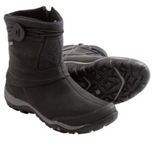 Merrell Dewbrook Zip Boots - Waterproof, Insulated (For Women) in Black - Closeouts