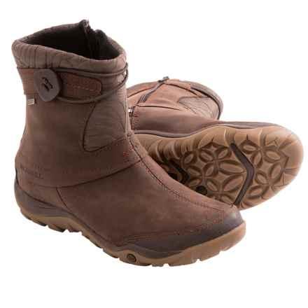 Merrell Dewbrook Zip Snow Boots - Waterproof, Insulated (For Women) in Brown - Closeouts