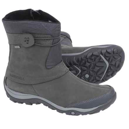 Merrell Dewbrook Zip Snow Boots - Waterproof, Insulated (For Women) in Grizzle Grey - Closeouts