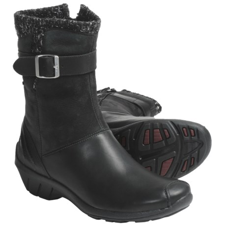 Merrell Donatella Boots - Leather, Nubuck (For Women) in Black