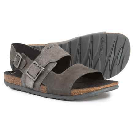 Merrell Downtown Backstrap Buckle Sandals (For Men) in Granite - Closeouts