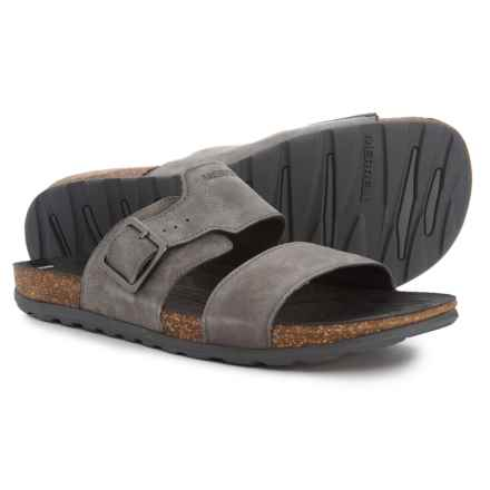 77f58b0b90 Merrell Downtown Slide Buckle Sandals - Leather (For Men) in Granite -  Closeouts