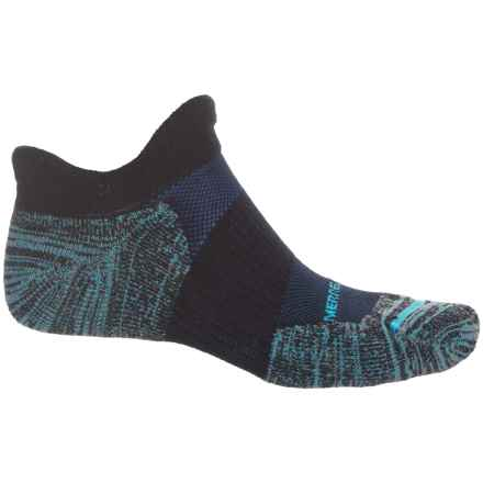 Merrell Dual Tab Trail Running Socks - Merino Wool, Below the Ankle (For Men) in Black - Closeouts
