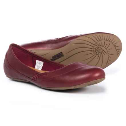Merrell Ember Ballet Shoes - Leather (For Women) in Beet Red - Closeouts