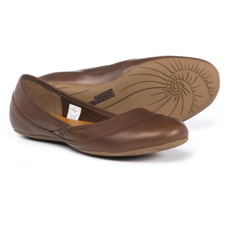 Merrell Ember Ballet Shoes - Leather (For Women) in Dark Earth