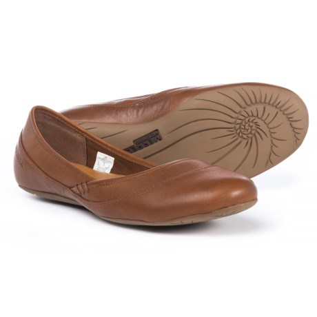 Merrell Ember Ballet Shoes - Leather (For Women) in Fawn
