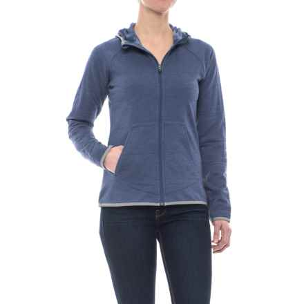 Merrell Emery Fleece Hoodie - Zip Front (For Women) in Crown Blue Htr - Closeouts