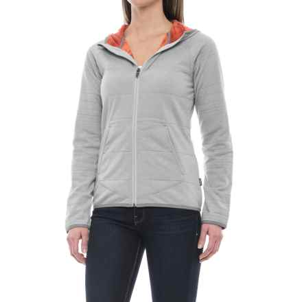 Merrell Emery Fleece Hoodie - Zip Front (For Women) in Iceberg Heather - Closeouts