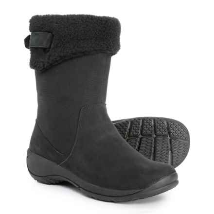 Merrell Encore Faux-Fur-Lined Boots - Slip-Ons (For Women) in Black - Closeouts