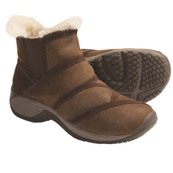 Merrell Encore Flurry Boots - Suede, Sheepskin Lining (For Women) in Cocoa