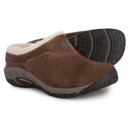 Merrell Encore Ice Clogs - Suede (For Women) in Brown - Closeouts