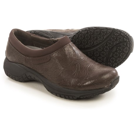 Merrell Encore Moc Pro Lab Shoes - Leather, Slip-Ons (For Women) in Brown
