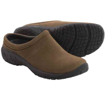Merrell Encore Nova 2 Clogs - Leather (For Women) in Slate Black - Closeouts
