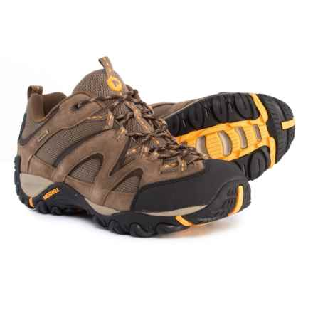 Merrell Energis Hiking Shoes - Waterproof, Suede (For Men) in Merrell Stone/Old Gold - Closeouts