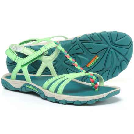 Merrell Enoki 2 Sport Sandals - Vegan Leather in Bright Green - Closeouts