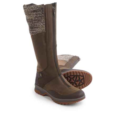 Merrell Eventry Cuff Leather Boots - Waterproof, Insulated (For Women) in Dark Earth - Closeouts