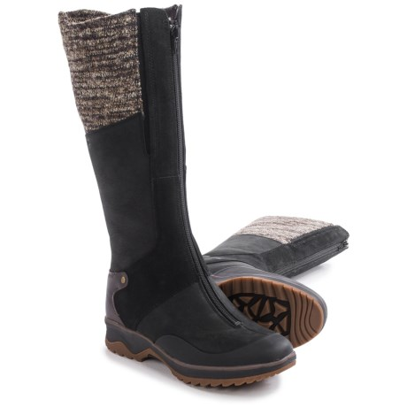 Merrell Eventyr Cuff Leather Boots - Waterproof, Insulated (For Women) in Black
