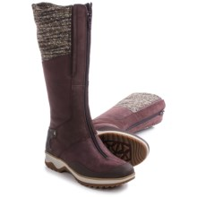 Merrell Eventyr Cuff Leather Boots - Waterproof, Insulated (For Women) in Wine - Closeouts