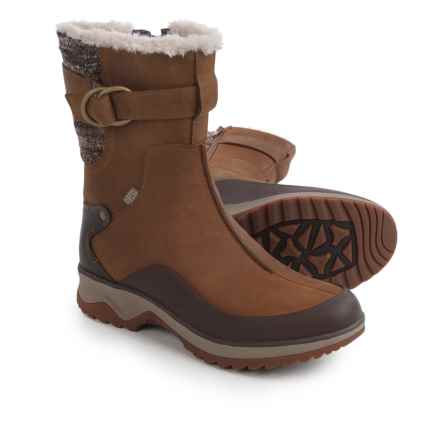 Merrell Eventyr Mid North Leather Boots - Waterproof, Insulated (For Women) in Merrell Tan - Closeouts