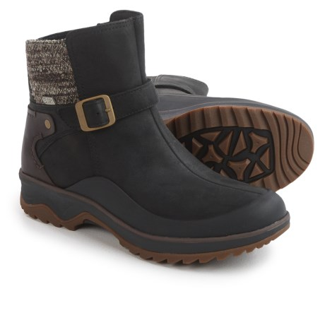 Merrell Eventyr Strap Leather Boots - Waterproof (For Women) in Black