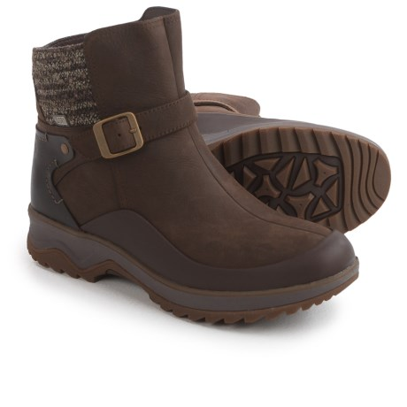 Merrell Eventyr Strap Leather Boots - Waterproof (For Women) in Clay