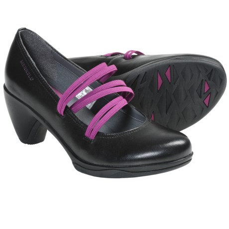 Merrell Evera Cross Pumps - Leather (For Women) in Black