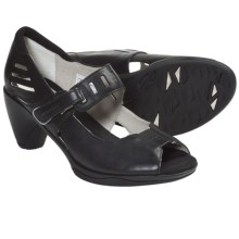 Merrell Evera Mary Jane Pumps - Leather, Peep Toe (For Women) in Black - Closeouts