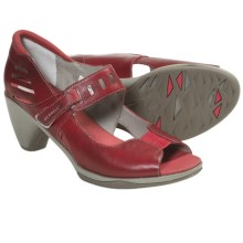 Merrell Evera Mary Jane Pumps - Leather, Peep Toe (For Women) in Scarlet - Closeouts