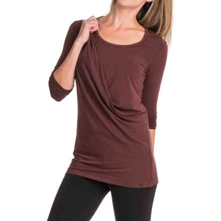 Merrell Evoke Jersey Tunic Shirt- Long Sleeve (For Women) in Bourbon Heather - Closeouts