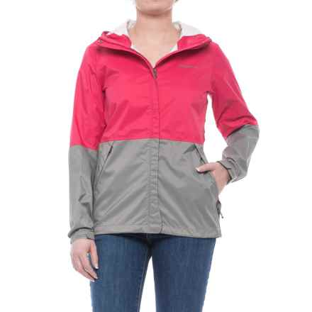 Merrell Fallon Rain Shell Jacket - Waterproof (For Women) in Azalea/Steeple Gray - Closeouts