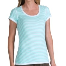 Merrell Finley Reversible Shirt - Short Sleeve (For Women) in White/Pool - Closeouts