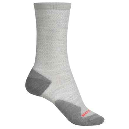 Merrell Flourecien Hiking Socks - Merino Wool, Crew (For Women) in Ash - Closeouts