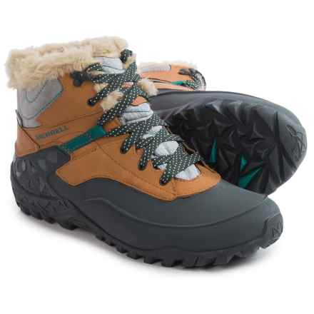 Merrell Fluorecein Shell 6 Snow Boots - Waterproof, Insulated (For Women) in Brown Sugar - Closeouts
