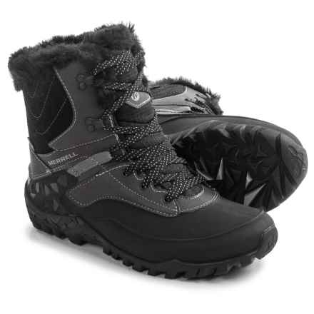 Merrell Fluorecein Shell 8 Snow Boots - Waterproof, Insulated (For Women) in Black - Closeouts