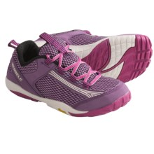 Merrell Flux Glove Lace-Up Shoes - Minimalist (For Kids and Youth) in Wineberry - Closeouts