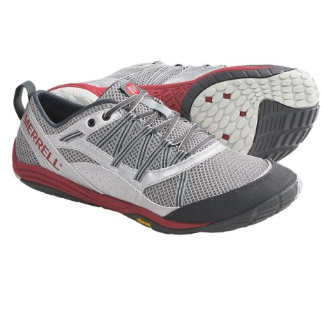 Merrell Flux Glove Sport Running Shoes - Barefoot (For Men) in Wild Dove/Silver