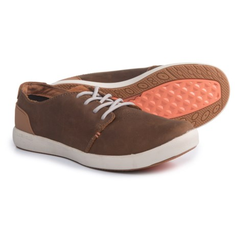 Merrell Freewheel Lace Shoes - Leather (For Women) in Merrell Tan