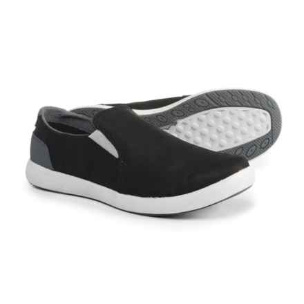 Merrell Freewheel Moc Shoes - Leather, Slip-Ons (For Women) in Black - Closeouts