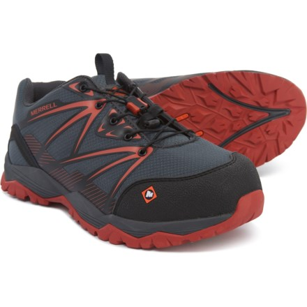8a513a1fb3937 Merrell Fullbench Work Shoes - Composite Safety Toe (For Men) in Granite