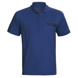 Merrell Geo Polo Shirt - UPF 20+, Short Sleeve (For Men) in Flax Heather