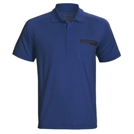 Merrell Geo Polo Shirt - UPF 20+, Short Sleeve (For Men) in Michigan