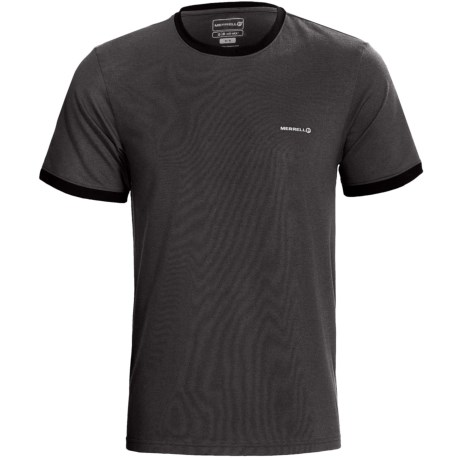 Merrell Geo Ringer T-Shirt - UPF 20+, Short Sleeve (For Men) in Granite Heather