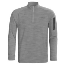 Merrell Geo Shirt - UPF 20+, Zip Neck, Long Sleeve (For Men) in Ice Heather - Closeouts