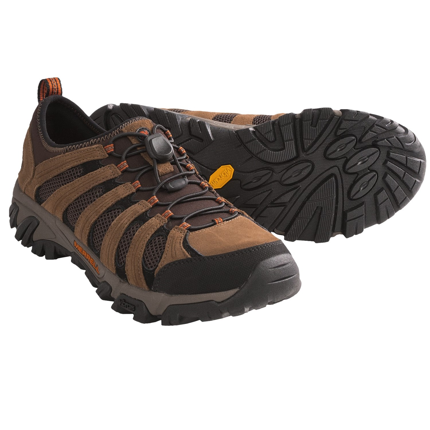 Merrell Geomorph Maze Stretch Trail Shoes (For Men) in Dark Earth