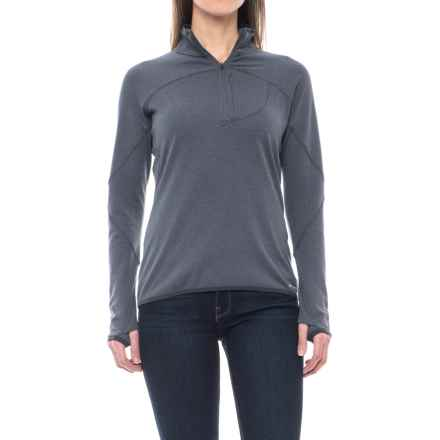 Merrell Geotex Fleece Shirt - Zip Neck, Long Sleeve (For Women) in Asphalt - Closeouts