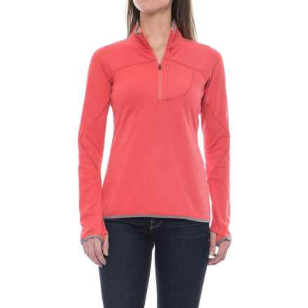 Merrell Geotex Fleece Shirt - Zip Neck, Long Sleeve (For Women) in Rose Of Sharn - Closeouts