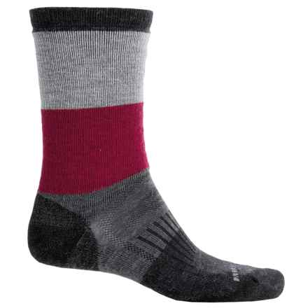 Merrell Gumjuwac Socks - Crew (For Men) in Cerise/Black - 2nds