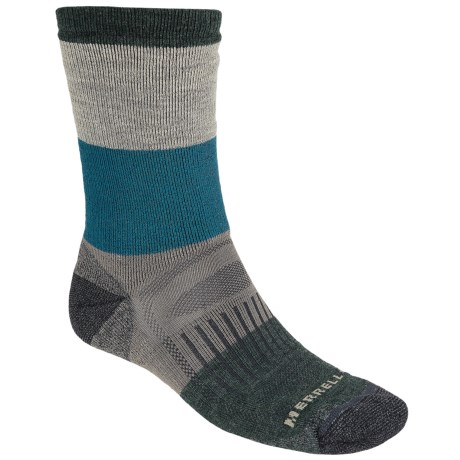 Merrell Gumjuwac Socks - Crew (For Men) in Dark Charcoal/Teal