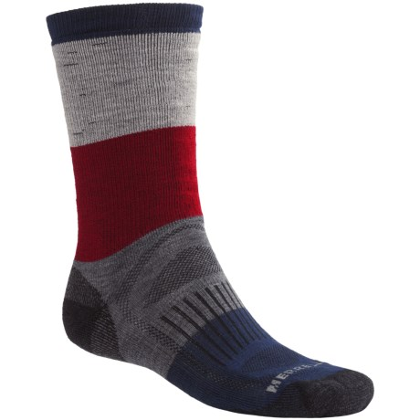 Merrell Gumjuwac Socks - Crew (For Men) in Navy/Grey/Red